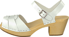 Swedish Hasbeens - Peep Toe High White