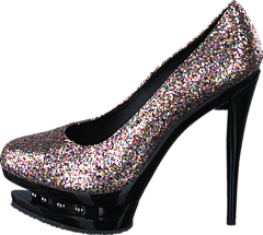 Fashion By C - Crazy party heel Silver