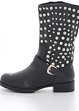 Fashion By C - Long rivet boot Black