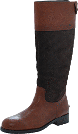 Marc O'Polo - Flat Heel Long Boot Oily Calf Printed