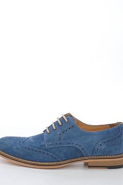 Knowledge Cotton Apparel - British Brogue Shoe Estate Blue