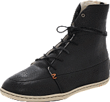 Hub Footwear - Song Leather/Wool Black