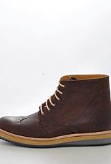 Knowledge Cotton Apparel - British Brogue Ancle Boot Buffalo Brown