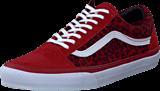 Vans - U Old Skool Leopard Red