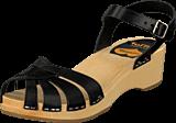 Swedish Hasbeens - Cross Strap Debutant Black/Nature sole