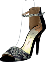 Sugarfree Shoes - Shiela Black/Snake