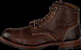 Frye - Logan Cap Toe Dark Brown
