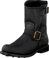 PrimeBoots - Engineer T Low-40 Old crazy black + brass