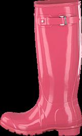 Hunter - Women's Original Tall Gloss Rhodonite Pink