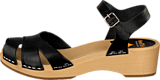 Swedish Hasbeens - Suzanne Debutant Black/Nature sole