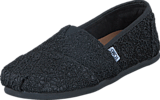 Toms - Seasonal Classics Black Crochet Glitter