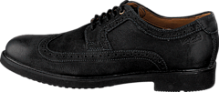 Clarks - Wahlton Wing Blk Tumbled Lea