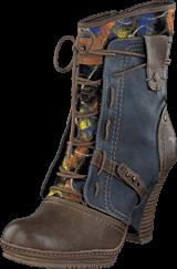 Mustang - 1107507 Women's Bootie Brown/Blue