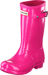Hunter - Original Kids Glitter Finish Fuchsia