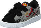 Puma - Suede Superman 2 V Kids Black-Limestone Gray