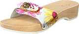 Scholl - Pescura Daisy heel White/multi