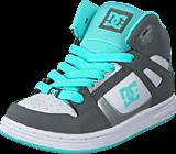 DC Shoes - Dc Kids Rebound Shoe Grey/Blue/White