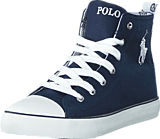 Ralph Lauren Junior - Harbour Hi JR Navy Canvas -White