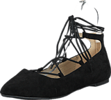 Bianco - Laced Up Ballerina Black