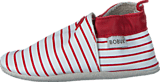 Bobux - Stripes White/Red