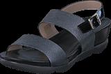Wonders - B-6607 Zincato Negro/Charol Negro