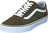 Vans - UA Old Skool Suede Canvas Dark Olive/White