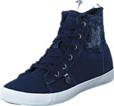 Odd Molly - Butterfly High Sneakers Dark Blue