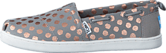 Toms - Young Drizzle Grey/Rose Gold Foil