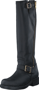 Johnny Bulls - High Boot Double Zip Black / Shiny Gold