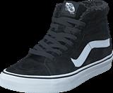 Vans - UA SK8-Hi (Suede/Fleece) Black/Blanc