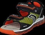 Geox - J Sandal Android Black/orange