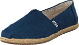 Toms - Alpargata Navy Washed Canvas Rope Sole