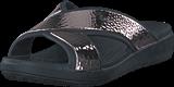 Crocs - Sloane Hammered Xstrp Slide W Black/rose Gold